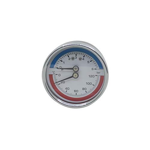 63mm 80mm - thermomanometer druckmanometer heizung Axial Gewinde 0~6 0~10 0~16 bar heizungsmanometer (80mm 0-16bar 1/4