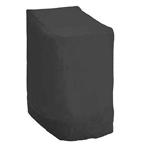 Beenle-Icey Funda Protectora para Silla de Jardín Oxford 420D Funda Sillas Jardin Impermeables para Protectorar Silla de Reposabrazos del Viento/Rayos UV/Polvo/Hojas 114 x 85 x 65 cm(Negro)