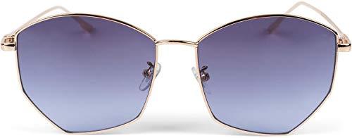 styleBREAKER gafas de sol de piloto de mujer con lentes pentagonales, lentes...