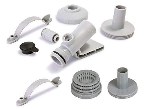 Set de conexión Intex para muebles de 32 mm de diámetro con adaptador para boquilla de revitalización de agua 12353