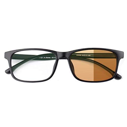 BWBZ Gafas de Lectura Multifocales Gafas de Lectura Progresivas con Decoloración Lente Anti-Azul Montura TR90 Protección contra Radiación Anti-UV Alivia La Fatiga Ocular