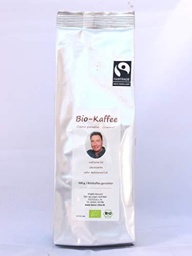 Ralf Moll säurearmer BIO-Gourmet-Kaffee, 4er Pack (4x500g), gemahlen, fairtrade, creme paradiso