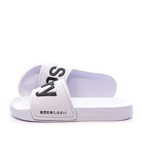 Superdry Eva Pool Slide, Zapatos de Playa y Piscina Mujer, Blanco (Optic 01c), 36/37 EU