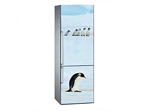 Oedim Vinilo para Frigorífico Pinguinos 185 x 70 cm | Adhesivo Resistente y de Fácil Aplicación | Pegatina Adhesiva Decorativa de Diseño Elegante