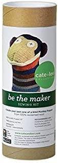 Cate & Levi - Hand Puppet Making Kit - Premium Reclaimed Wool - Machine Washable (Monkey)