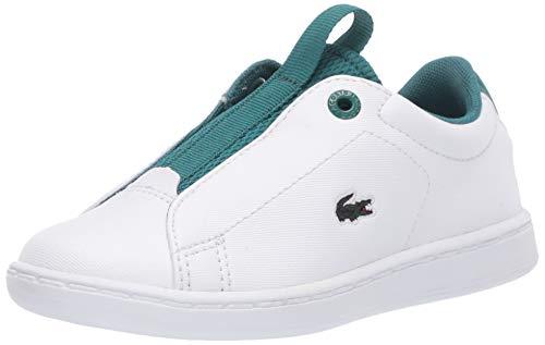 Lacoste Baby Kid's Carnaby Sneaker, White/Green Slip On, 8 US Unisex Infant