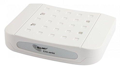 ALLNET all-ghn102-coax Network Bridge weiß Brücke & Repeater–Brücken & Repeater (IEEE 802.1p, IEEE 802.3ab, IEEE 802.3AZ, IEEE 802.3u, kabelgebunden, G. HN, TV, Network Bridge, weiß, 4W)