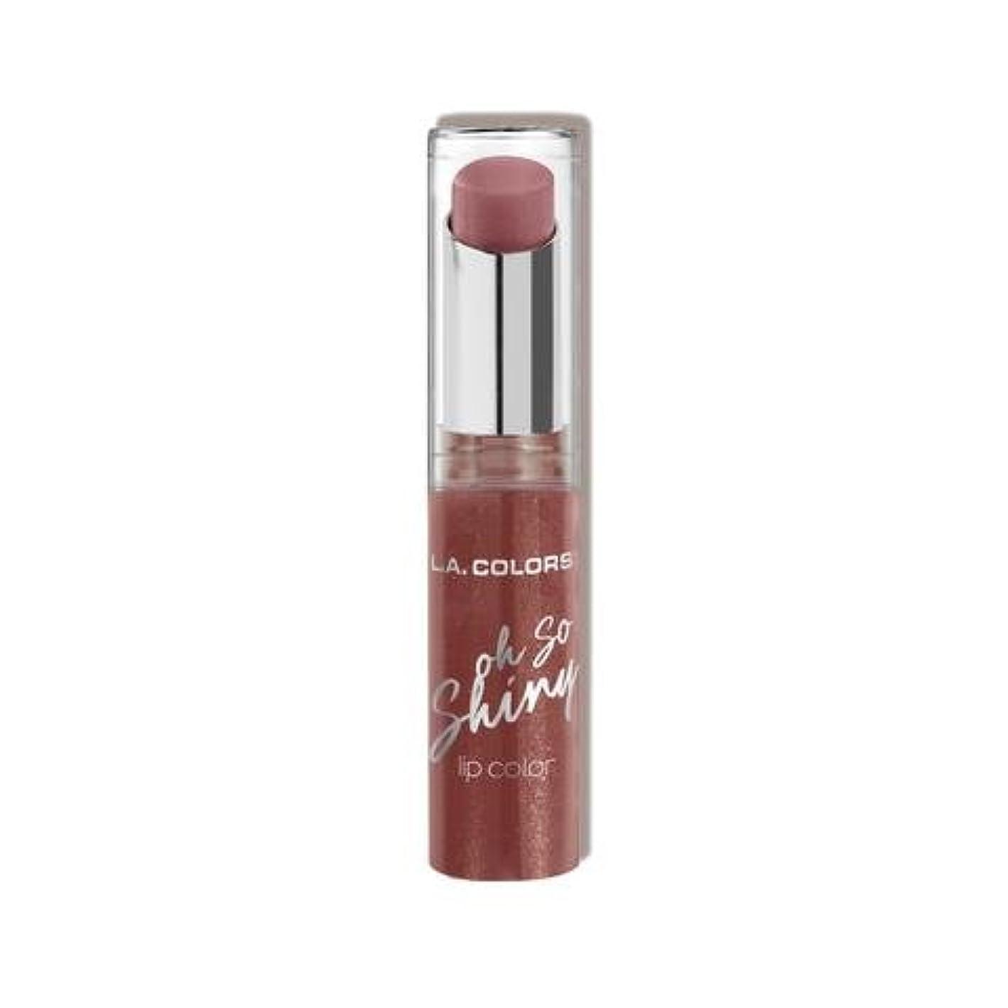 くぼみプレゼント凍結(6 Pack) L.A. COLORS Oh So Shiny Lip Color - Bare Bling (並行輸入品)