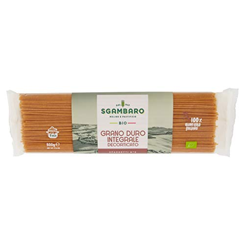 スガンバロ オーガニックスパゲッティ(全粒粉) 500g