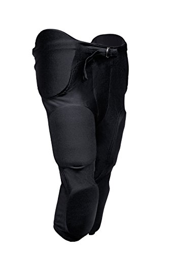"""tag Adult Football Game Pant with Integrated Pads (2X-Large) Black (Waist 36""""-38"""")"""