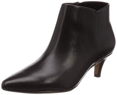 Clarks Linvale Sea, Zapatos con Tira de Tobillo Mujer, Piel (Piel Negra), 38 EU