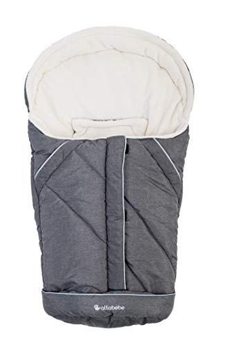 AltaBeBe AL2003P-76 Winterfußsack Alpin Kollektion für Babyschale, whitewash, grau