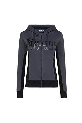 BOXEUR DES RUES - Basic Hooded Full Zip Swetashirt, Donna, Anthracite,...