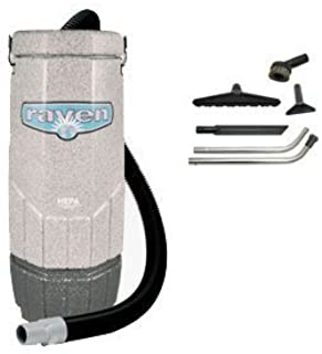Sandia 20-3001, HEPA Raven 10 Quart Backpack Vacuum with 5 pc Standard Tool Kit, 11.5 Amps, 115 Volt, 1 Stage 1200 Watt Motor