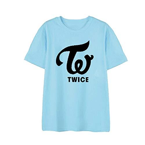 ZIGJOY KPOP Girl Group Twice Camiseta de Camiseta Sana Momo Mina para Fanáticos Blue...