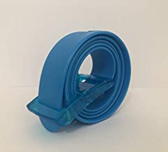 """One Size Fits All Silicone Golf Belt Navy Blue Belt w/ Removable Buckle We have over 10 colors available Mix and match different color buckles! Each belt is about 1 3/8"""" Wide"""