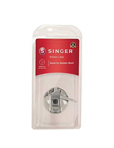 SINGER | Spare Bobbin Case for SINGER Sewing Machines, Tension Screw to Sew Thicker Threads, Fits Class 15 Front-Loading Bobbin Systems - Sewing Made Easy