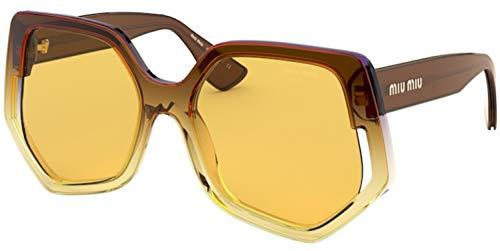 Miu Miu Gafas de sol MU 07VS 04D0B7 Gafas de sol mujer color Marrón amarillo tamaño de lente 55 mm