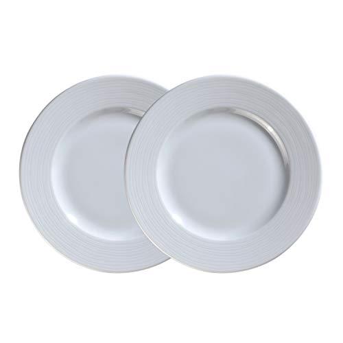 Kahla Nature Dinnerware Beilagenteller, Porzellan, 19 cm, Weiß, 2 Stück