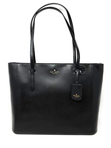 Kate Spade New York Schuyler Medium Leather Tote Shoulder Bag in Black 001
