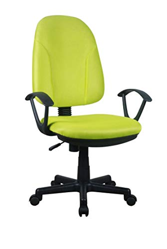 AVANTI TRENDSTORE - Alano - Sedia d'ufficio Girevole e Regolabile in Altezza. Disponibile in Due Colori Diversi. Dimensioni Lap 58,5x92-102x61 cm (Verde Chiaro - Nero)