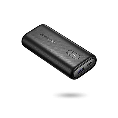 Poweradd Power Bank, EnergyCell 10000mAh PD 18W Portable Charger, Ultra-Mini External Battery with USB C 18W Power Delivery Compatible with iPhone iPad Samsung HUAWEI Xiaomi and more-Black