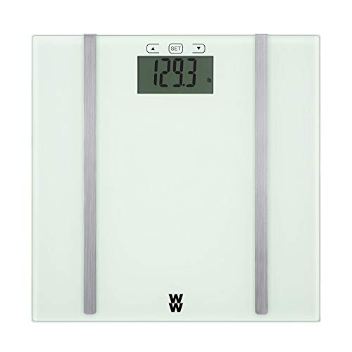 WW Scales by Conair Body Analysis Glass Bathroom Scale, Measures Body Fat, Body Water, & BMI, 4 User Memory, 400 Lbs. Capacity