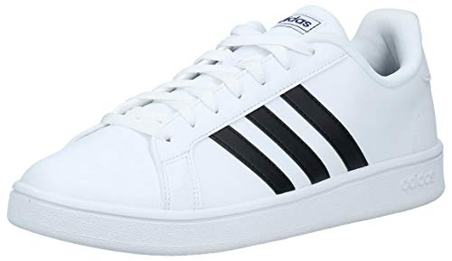 adidas Herren Grand Court Base Tennisschuh, FTWR White Core Black Dark Blue, 44 2/3 EU