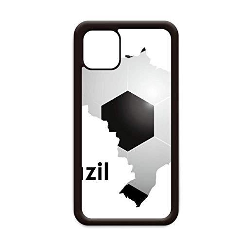 Voetbal Brazilië Kaart Vorm Brazilië Slogan voor Apple iPhone 11 Pro Max Cover Apple mobiele telefoonhoesje Shell, for iPhone11 Pro