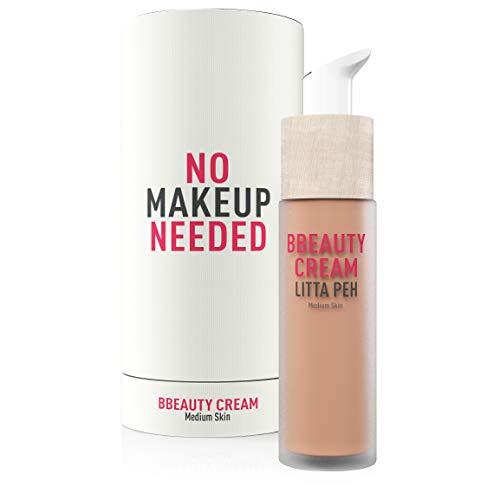 Litta Peh - BBcream - Crema facial Hidratante con Color - Tratamiento Orgánico Anti Imperfecciones - 50ml (Medium)