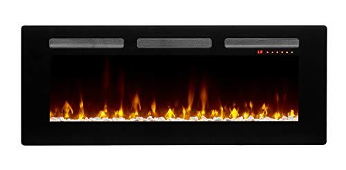 "DIMPLEX Sierra 48"" Linear Electric Fireplace, Model: SIL48, 120V, 1400W, 11.7 Amps, Black"