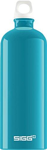 SIGG Fabulous Aqua Trinkflasche (1 L), schadstofffreie und auslaufsichere Trinkflasche, federleichte und robuste Trinkflasche aus Aluminium