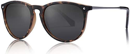 Carfia Vintage Round Womens Sunglasses Polarized UV400 Protection Classic Retro Designer Style product image