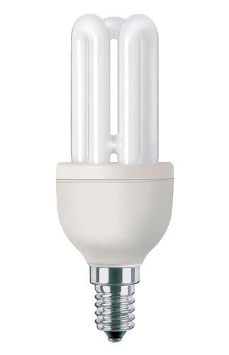 Philips Genie Stick 871150080257610 Ampoule Fluorescente à économie d'énergie 11 W, 50 W, Stick, E14, 590 LM, lumière du Jour Froide
