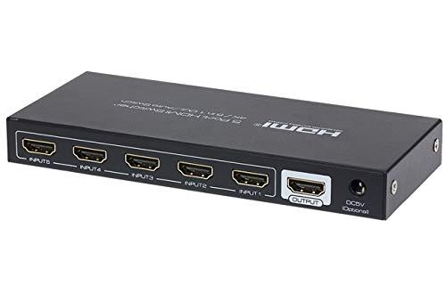Nikkai HDMI Schakelaar 5 Poorten In 1 Poort Uit 4K 30 Hz Resolutie Afstandsbediening
