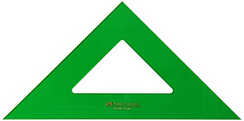 Faber-Castell 566 - Escuadra de 25 cm, color verde