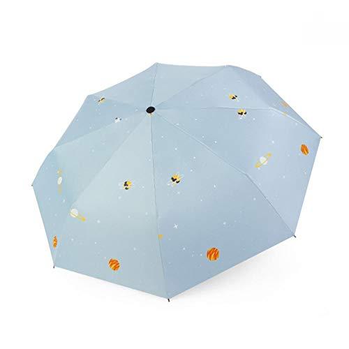 YHDNCG Paraguas,Creative Star Universe Series Umbrella,Plegable paraguas lluvioso,Paraguas impermeable UV