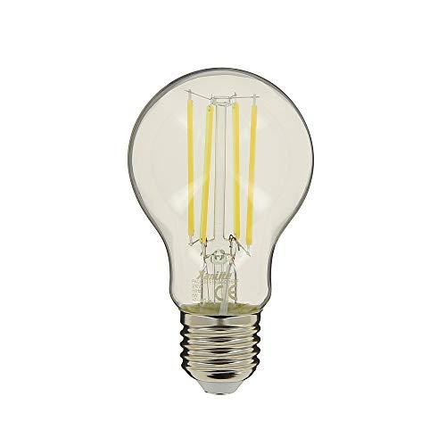 Lampadina a filamento LED A65 – attacco E27 – 7 – 8 W cons (75 W Eq) – luce bianca neutra