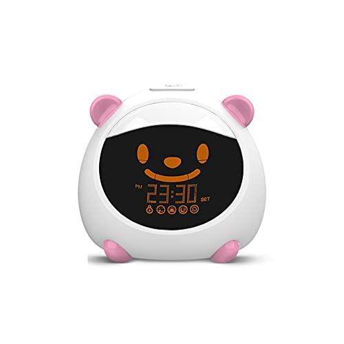 Aiglen WiFi Alarma Dormir Trainer Trainer Light Sound Expresión Control De Voz con Reloj Digital (Color : A)