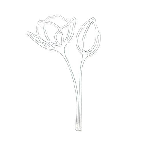 Qiman Tulpe Metall Stanzformen Schablone, DIY Album Briefmarke Karte, Scrapbooking, Kartenherstellung, Papierhandwerk, Themeneinladungen, Albumdekoration, Fotorahmen