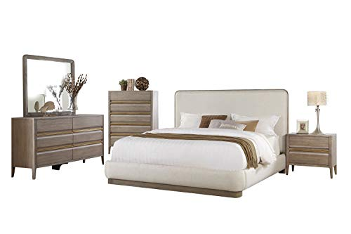 Why Should You Buy Alicante Mid Century Modern 5PC Bedroom Set Cal King Platform Bed, Dresser, Mirro...