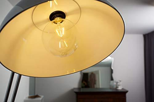 Osram LED Star Classic Globe, in Ballform mit E27-Sockel, Nicht Dimmbar, Ersetzt 60 Watt, Filamentstil Klar, Warmweiß – 2700 Kelvin, 1er-Pack - 9