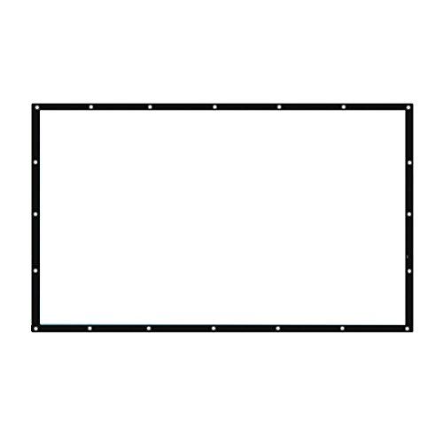Auntwhale Pliable 4: 3 HD Display 150 pouces Écran de projection Polyester Projection Rideau Home Cinéma Courts extérieurs 220 * 300cm Fond blanc + bord noir
