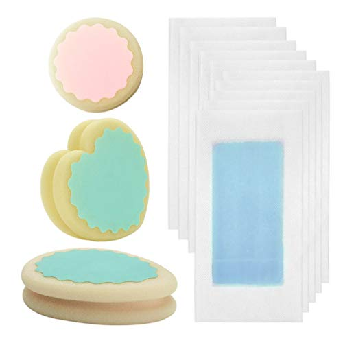 Yixikejiyouxian Tiras de Cera para depilación Papel de Cera fría Almohadilla de Esponja de Maquillaje Permanente Profesional Elimina Depilación indolora - Azul
