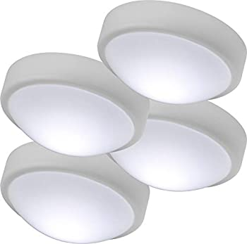 Energizer 48958-P1 Battery Operated Soft White Push On/Off Wireless Perfect for Under Cabinets Tap Light 4 Pack