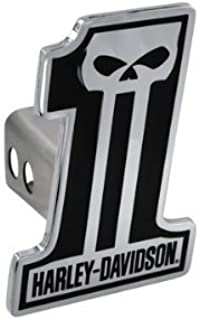 Harley-Davidson Number 1 Black Skull Trailer Tow Hitch Cover Plug