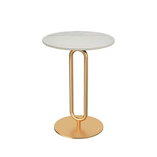 Home.table XZGang Mesa de Bar, Mármol Acabado Redonda Mesa de terraza de la Sala de recepción Sala Sofá Lateral Mesa de café Vida Sencilla (Color : E, Size : 40 * 40 * 55CM)