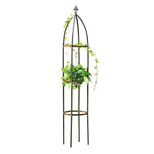 GardenMate®, Obelisk, rankhulp, brons, hoogte 190 cm, Ø 35 cm, massief gepoedercoat staal