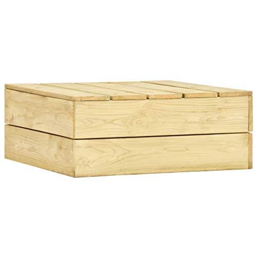 vidaXL Bois de Pin Imprégné Table de Jardin Table de Terrasse Table d'Extérieur Table de Patio Table d'Arrière-Cour Meuble de Patio 75x75x31 cm