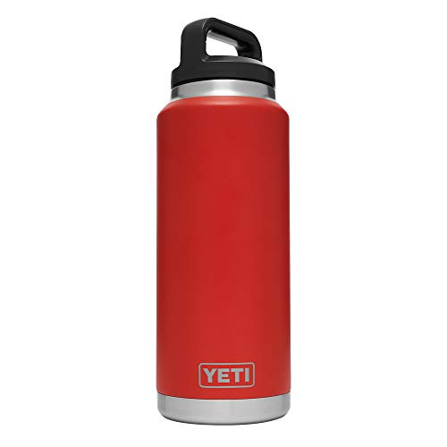 YETI Rambler 36 oz Bottle, Vacuum Insulated, Stainless Steel with TripleHaul Cap, Canyon Red